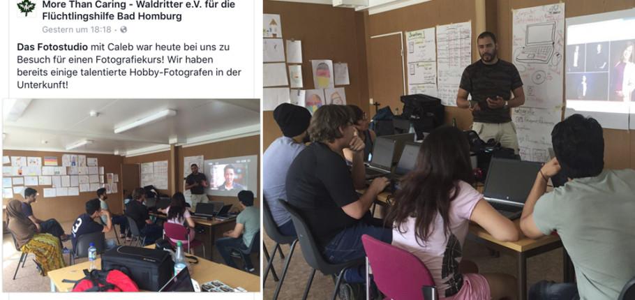 DASFOTOSTUDIO Caleb Ridgeway im Flüchtlingsheim Bad Homburg